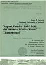 Brian Ó Catháin: August Knoch (1892-1944): der treueste Schüler Rudolf Thurneysens?